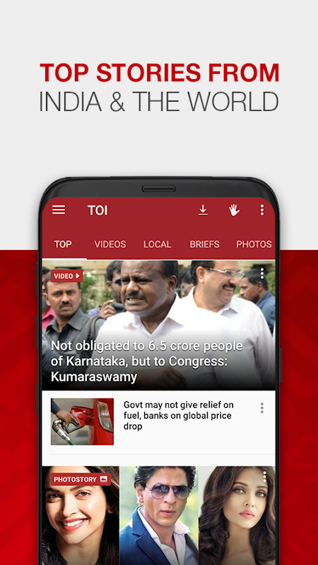 Android News by The Times of India Newspaper Screen 3