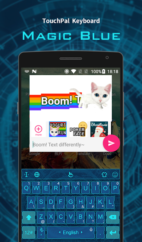 Android Magic Blue FREE Keyboard Theme Screen 5