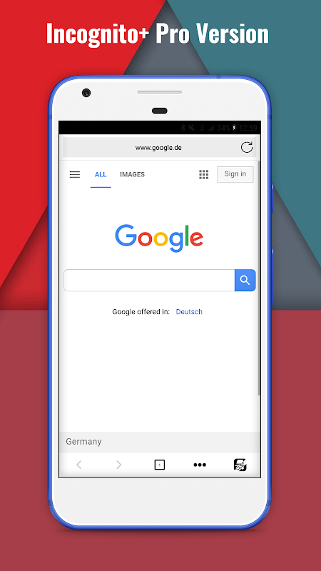Incognito+ Pro fast private anonymous Browser 105 Screen 2