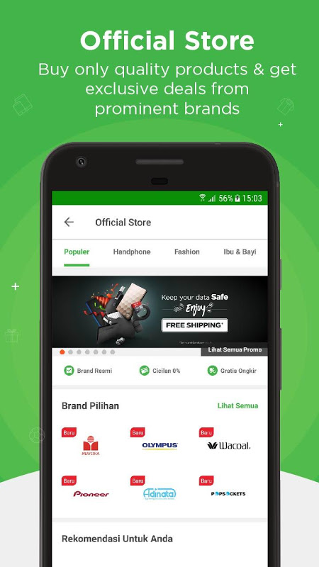 Android Tokopedia - Online Shopping & Mobile Recharge Screen 5