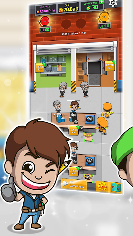 Android Idle Factory Tycoon Screen 2