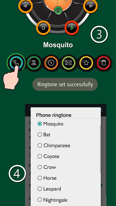 Android Animals ringtones Screen 3