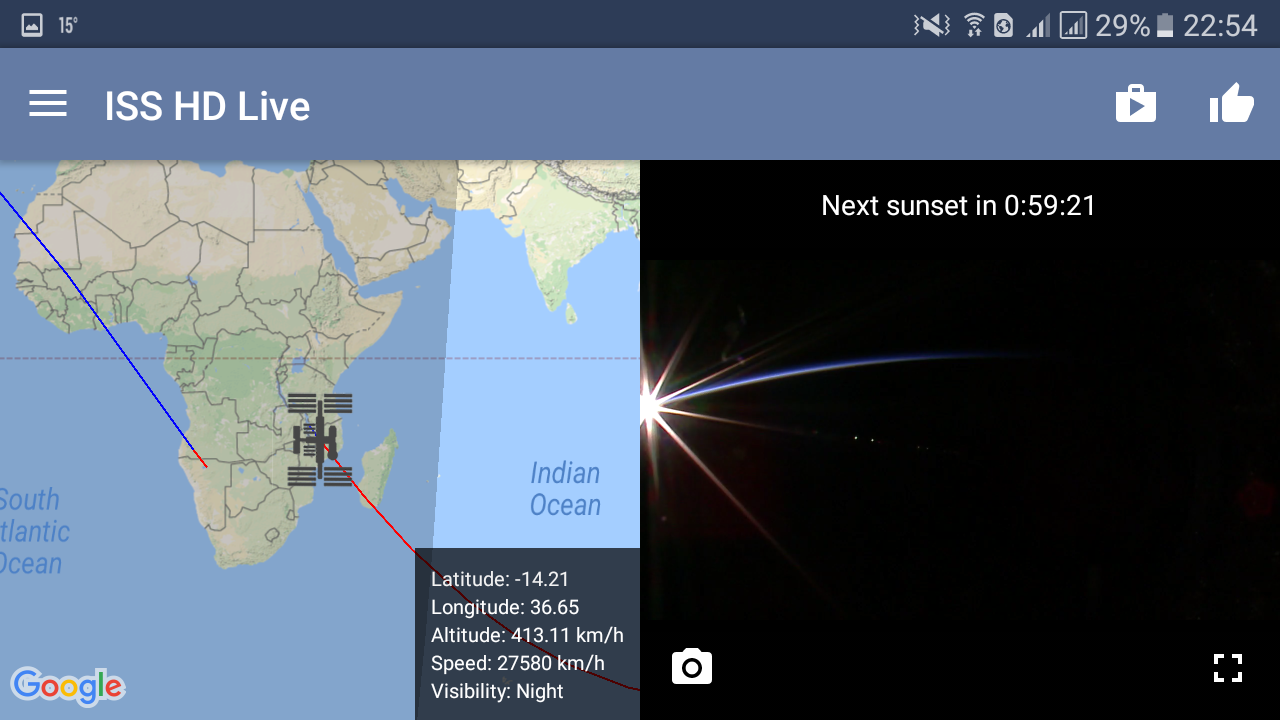 Android ISS HD Live: View Earth Live Screen 15