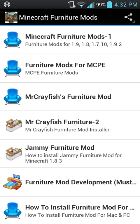 Android Furniture Mods For Minecraft Screen 8