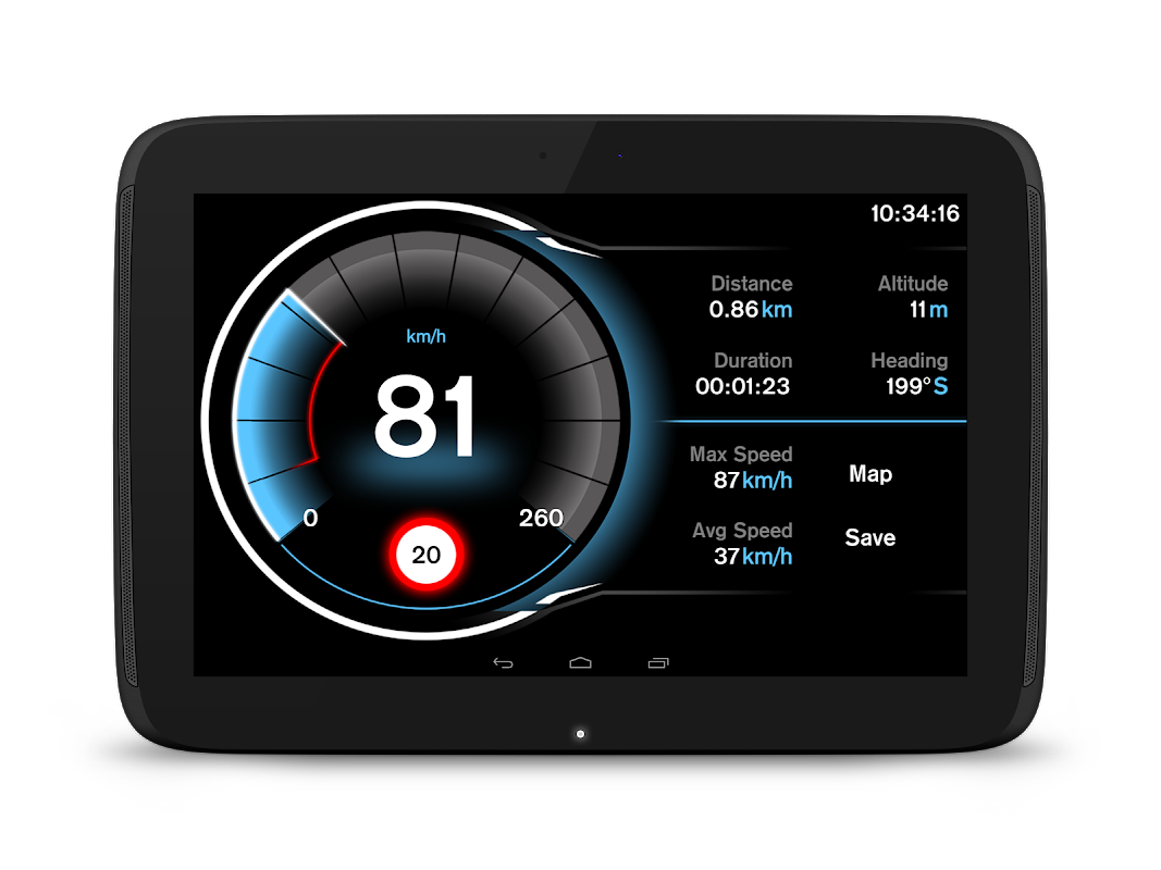 Speed View GPS Pro 1.4.16(googlemap) Screen 3