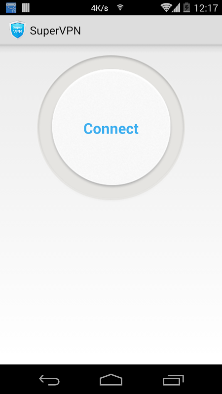 Android SuperVPN Free VPN Client Screen 3