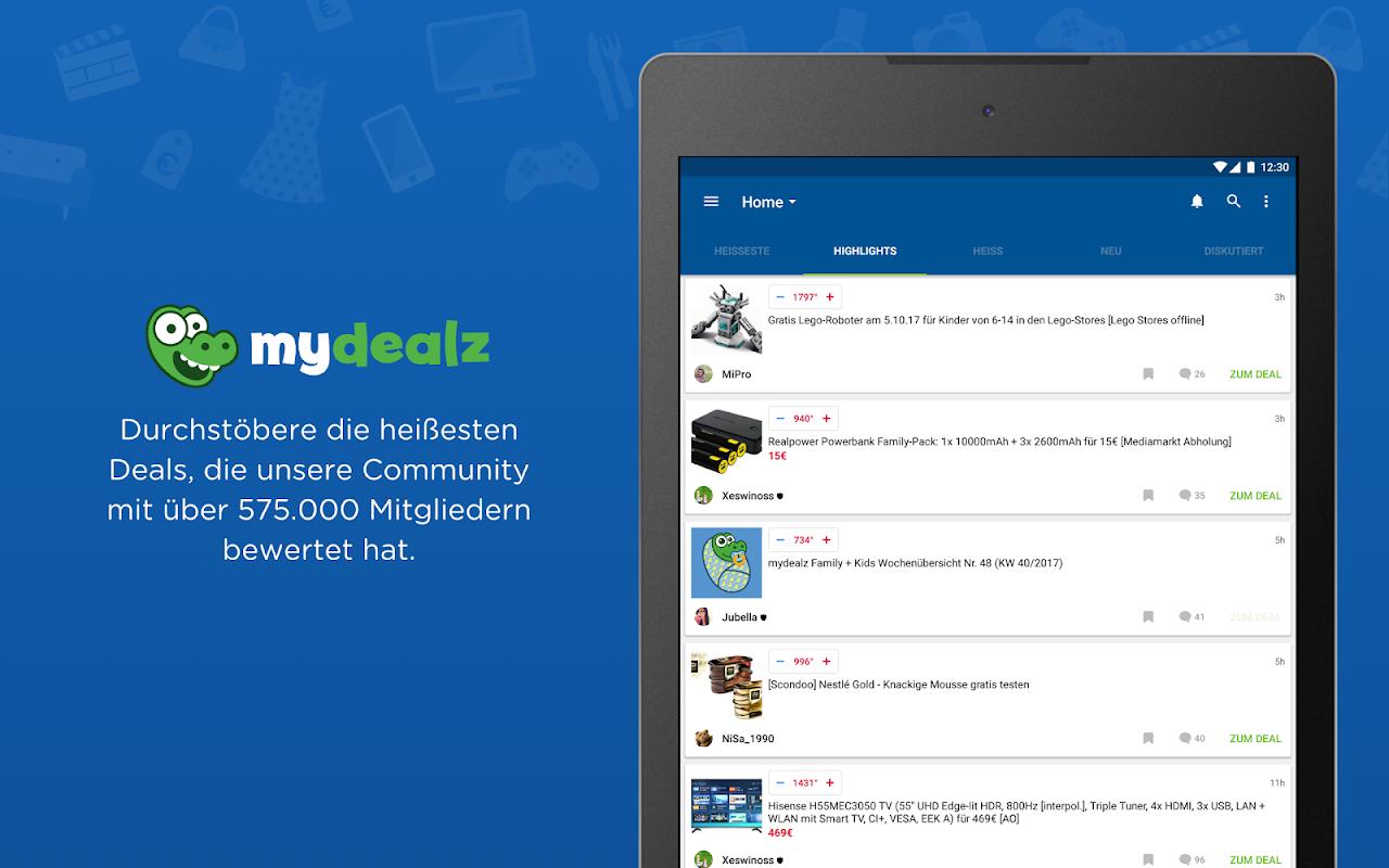 Android mydealz – Gutscheine, Schnäppchen, Angebote, Sale Screen 5