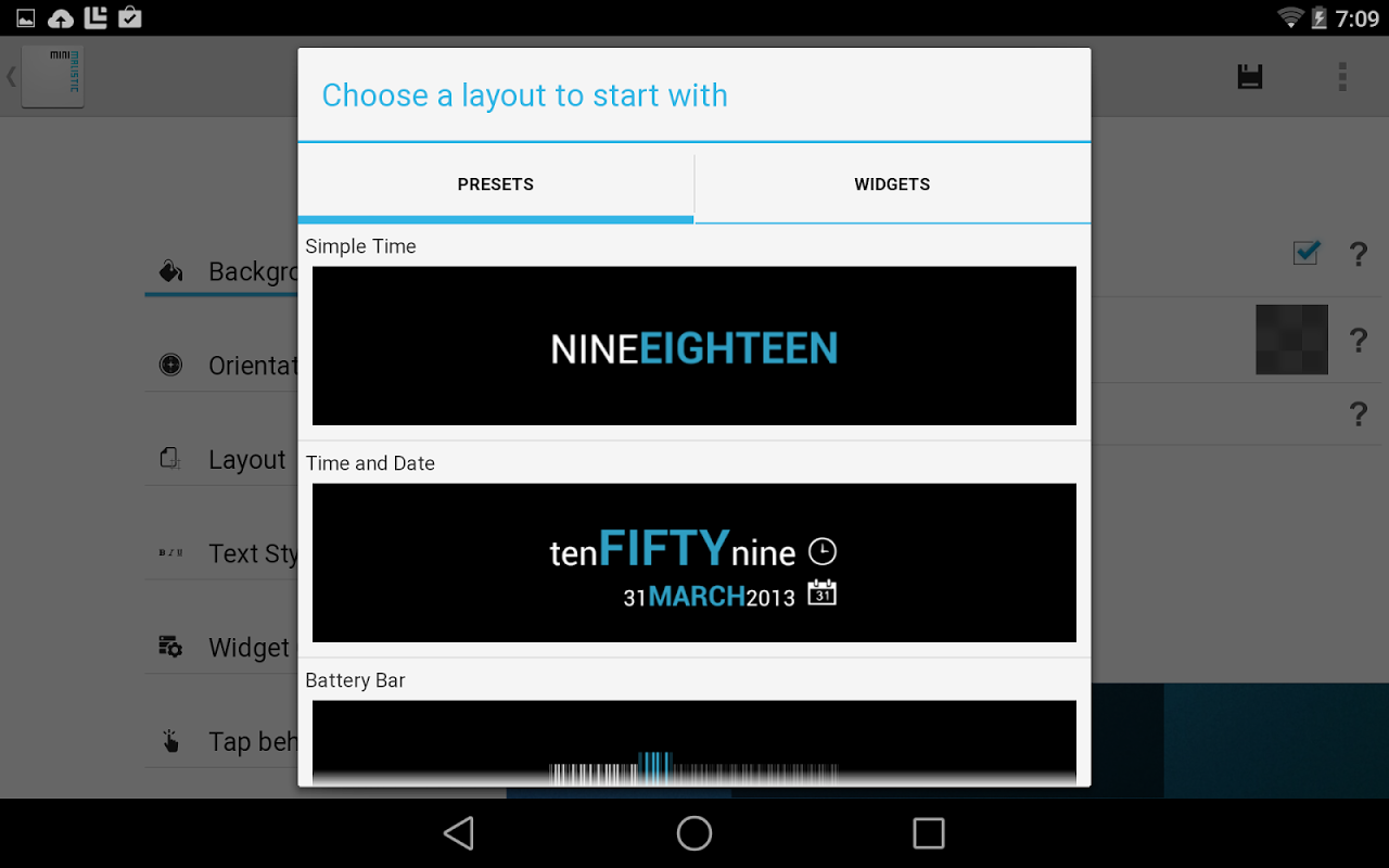 Minimalistic Text: Widgets 4.8.1 - Pre M Screen 8