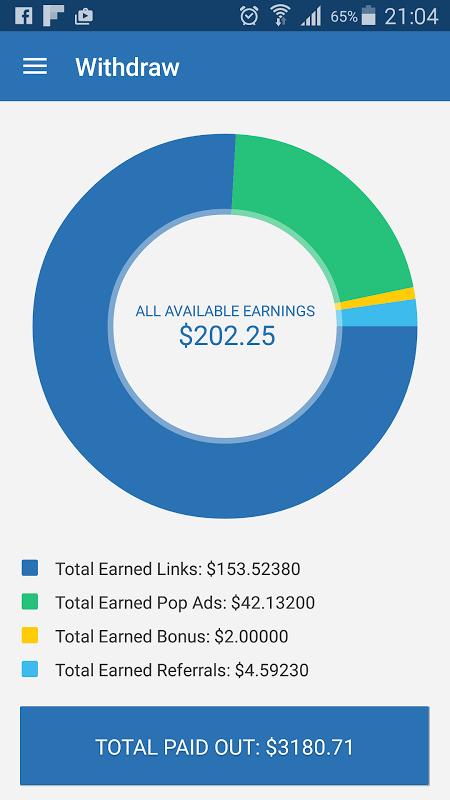 AdFly - Paid URL Shortener 2.0.0 Screen 3