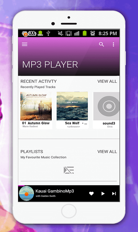 Audio Player(Mp3 Music Player) 1.5 Screen 1