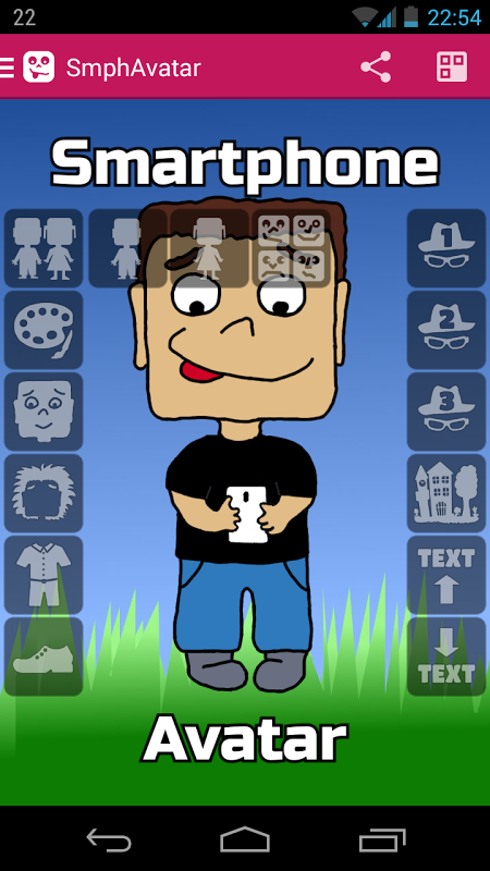 Android Smartphone Avatar Screen 2