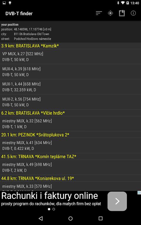 DVB-T finder 1.68 Screen 6