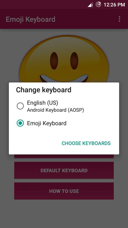 Android Emoji Keyboard Screen 4