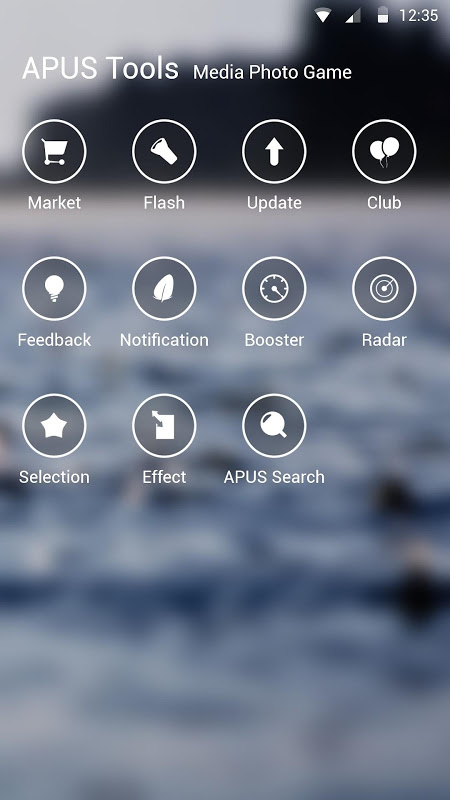 Android Simple-APUS Launcher theme Screen 2