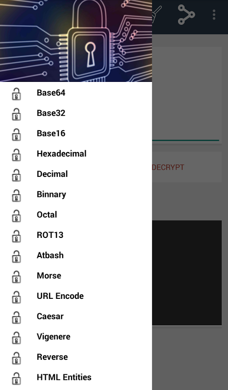 Android Encrypt Decrypt Tools Screen 2