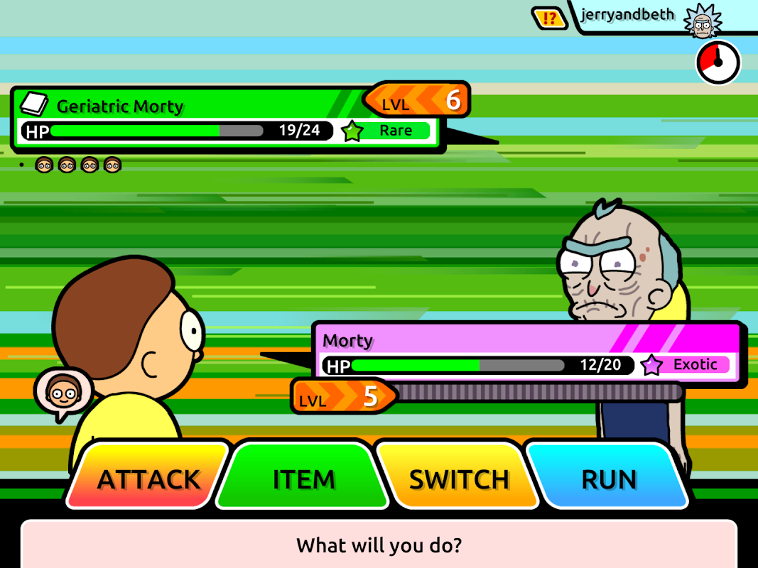 Android Pocket Mortys Screen 11