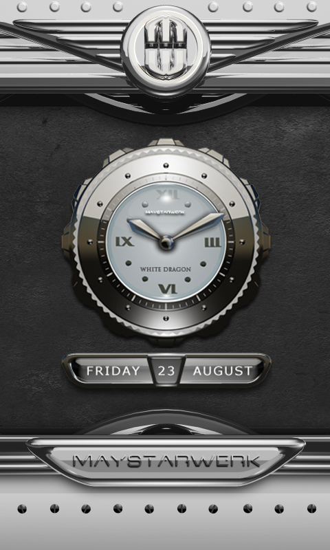 Android Dragon Clock Widget white Screen 1