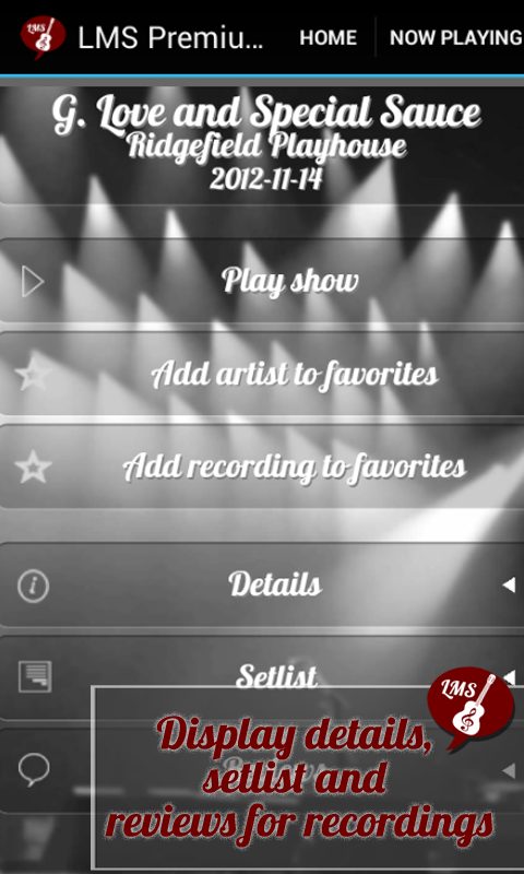 Android Live Music Streamer Screen 5
