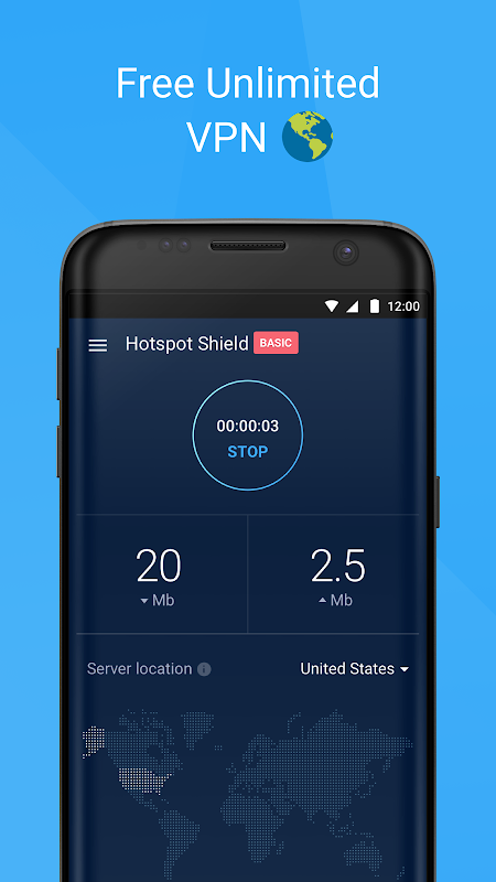 Hotspot Shield Basic - Free VPN Proxy & Privacy 6.9.4 Screen 2