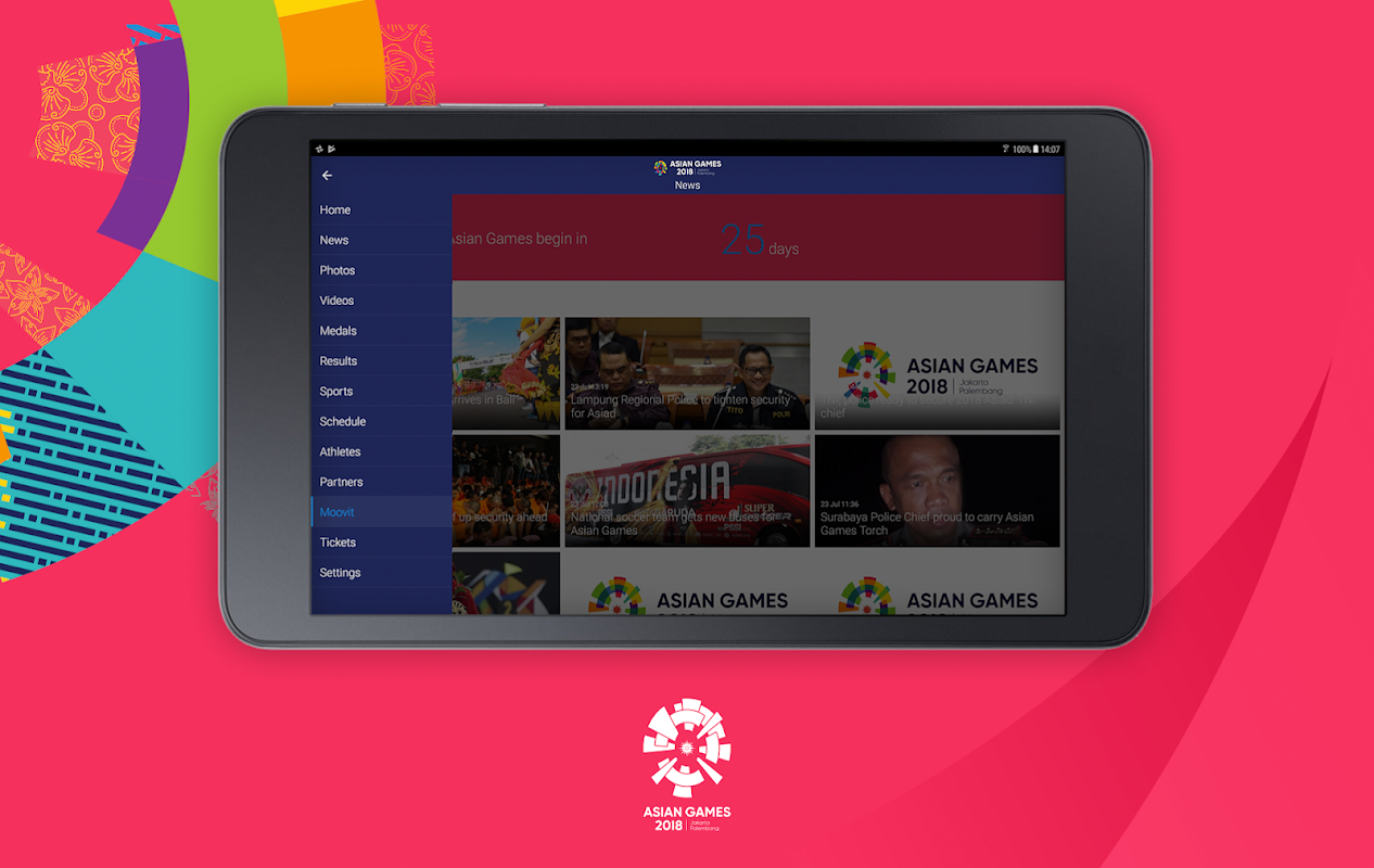 Android 18th Asian Games 2018 Official App Screen 6