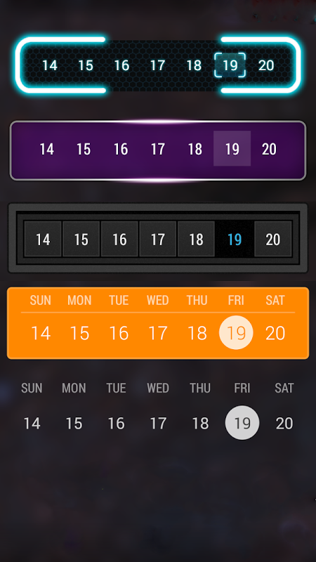 Android Calendar Widget: Month Screen 7