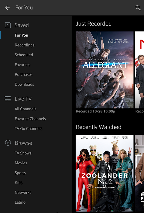 Xfinity Stream 5.1.1.001 Screen 13