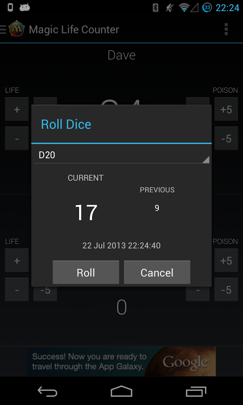Android Magic Life Counter Screen 5