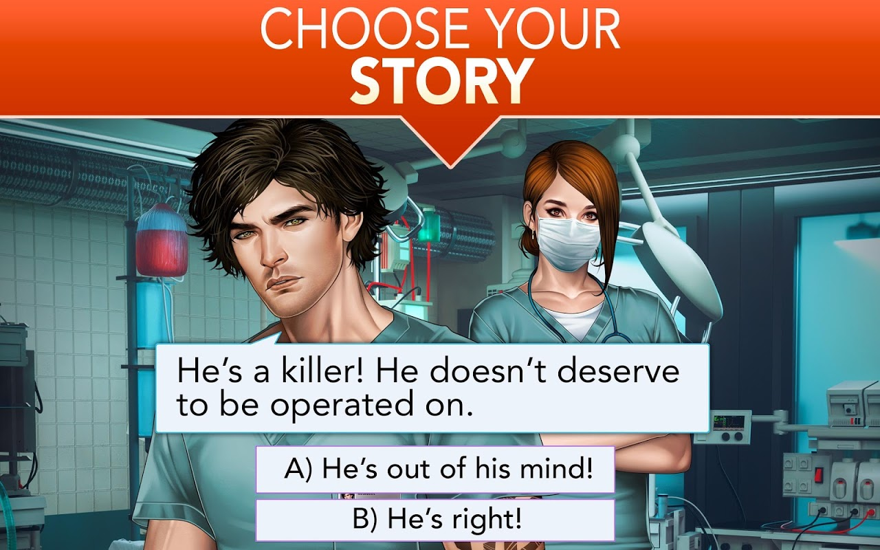 Android Is it Love? Blue Swan Hospital - Choose your story Screen 9