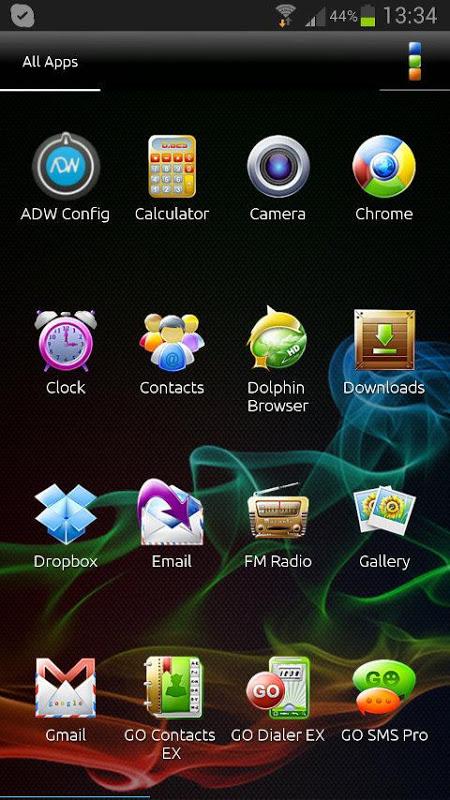 ADW Theme Samoled 1.16 Screen 1
