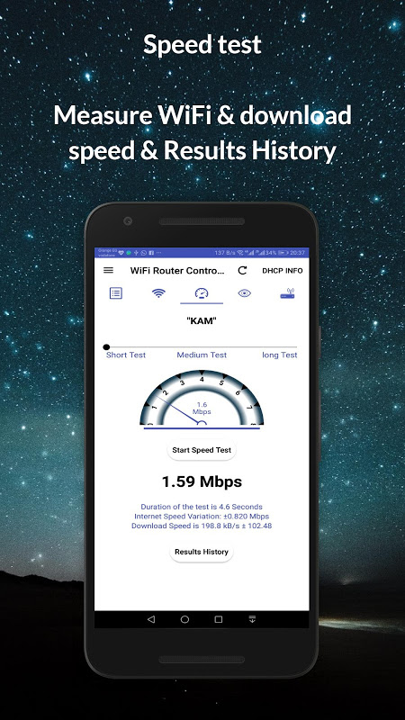 Router Admin Setup Control & Speed Test 9.41 Screen 1