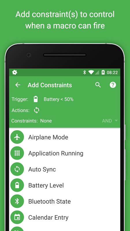 Android MacroDroid - Device Automation Screen 3