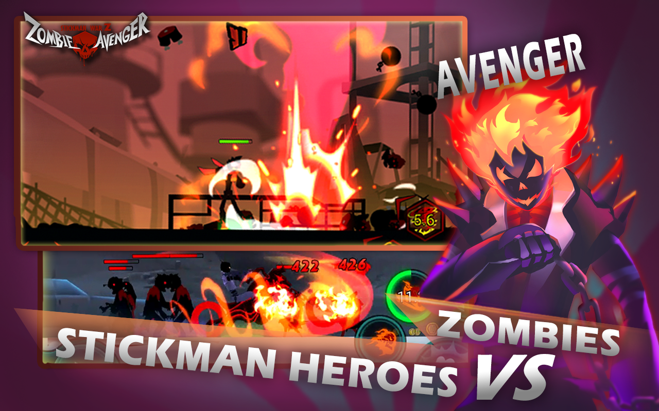 Android Zombie Avengers-Stickman War Z Screen 3