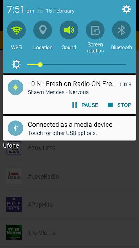 Android FM Radio Stream Screen 1