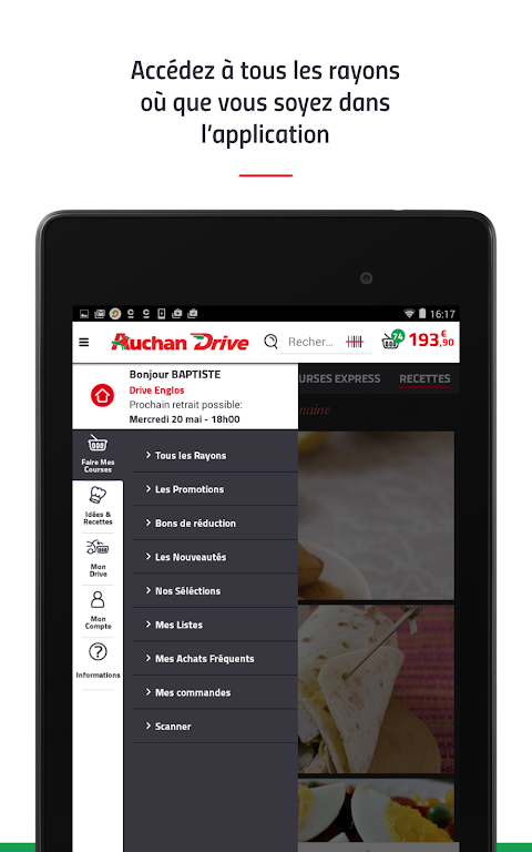 Android AuchanDrive - courses drive Screen 17