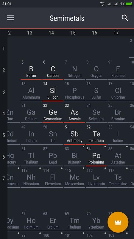 Periodic Table 2017 0.1.28 Screen 4