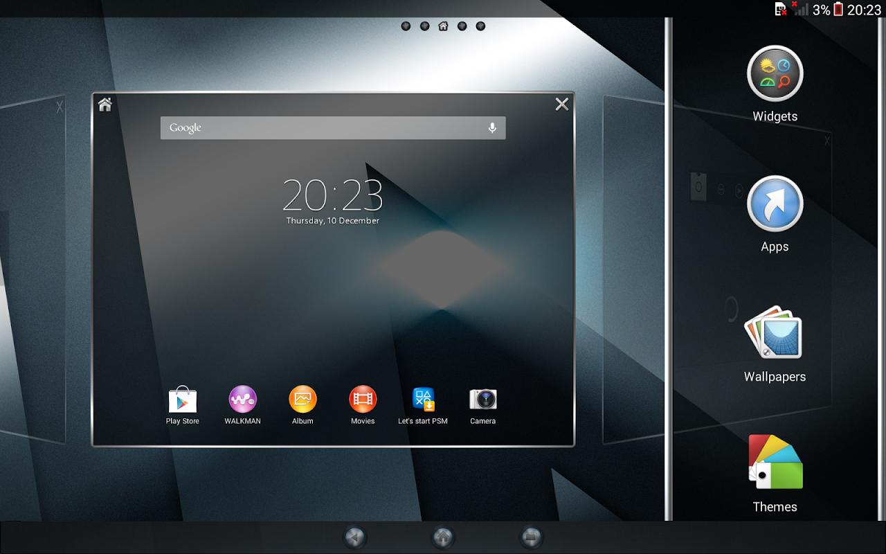 Android Xperia™ theme - Reality Screen 1