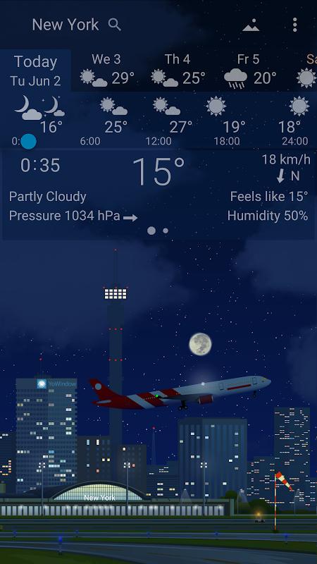 Precise Weather YoWindow 1.33.17 Screen 2
