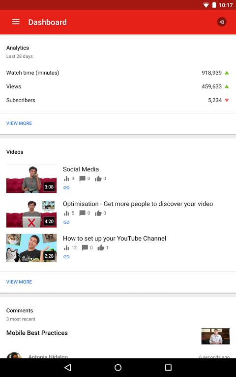 YouTube Creator Studio 1.8.4 Screen 4