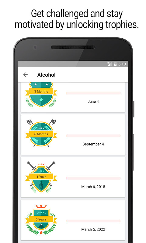 Android Sobriety Counter – Bad Habits Screen 5
