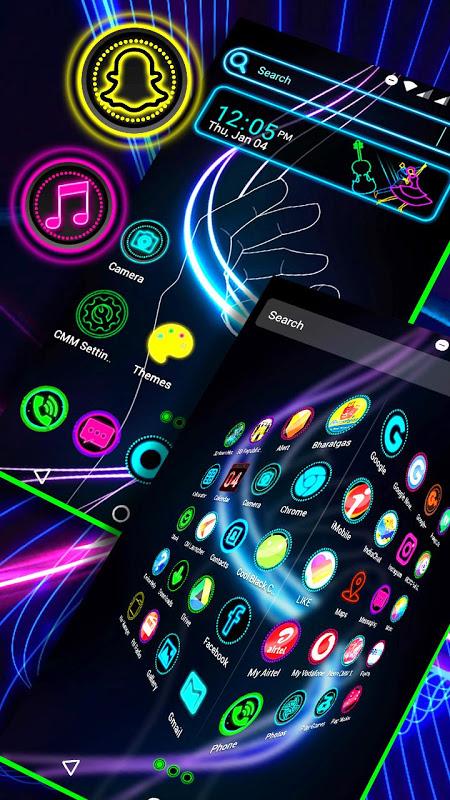 Neon Launcher Theme 2.2 Screen 1
