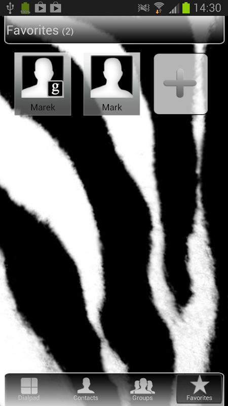 GO Contacts Zebra Theme 3.0 Screen 4