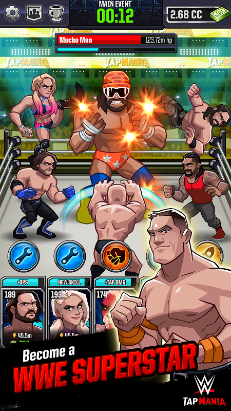 Android WWE Tap Mania Screen 1