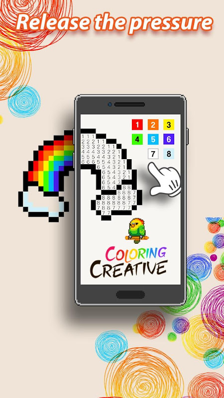 Android Coloring Creative - Color by Numbers & Pixel Art Screen 2