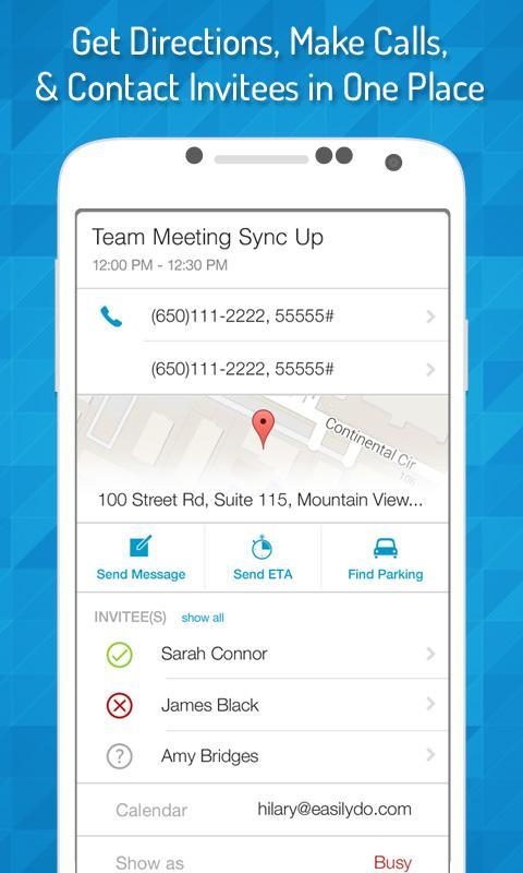EasilyDo Smart Assistant 3.9.3 Screen 2