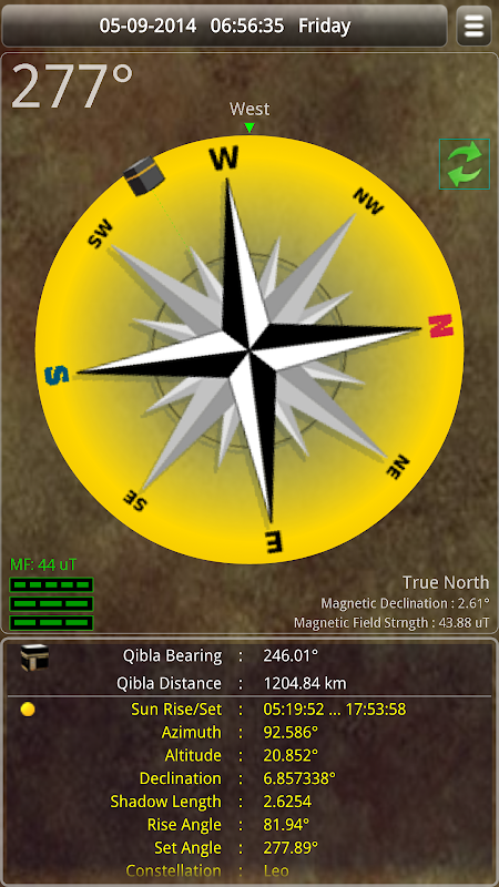 Sun & Moon Calendar v3.6.0 Screen 2