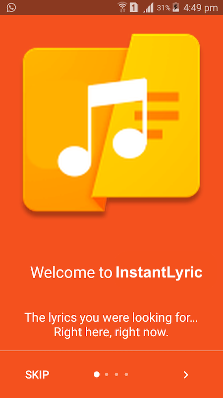 Android InstantLyric Screen 2
