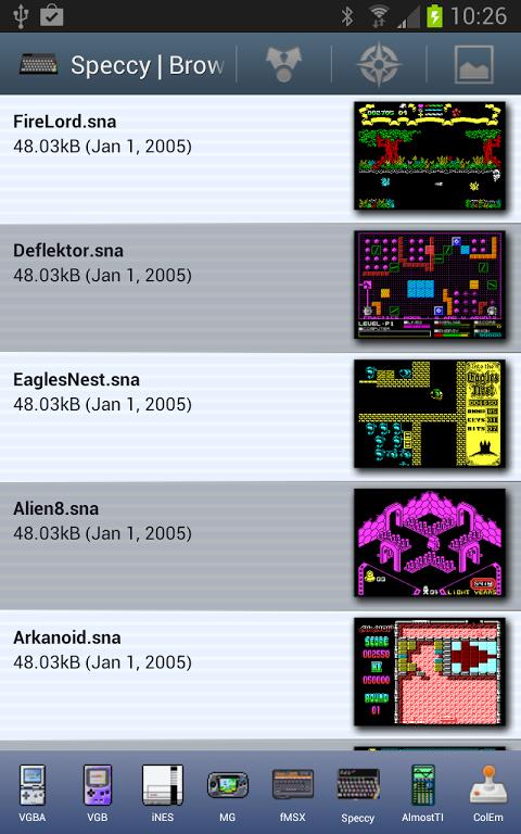 Speccy - ZX Spectrum Emulator 3.3.3 Screen 12