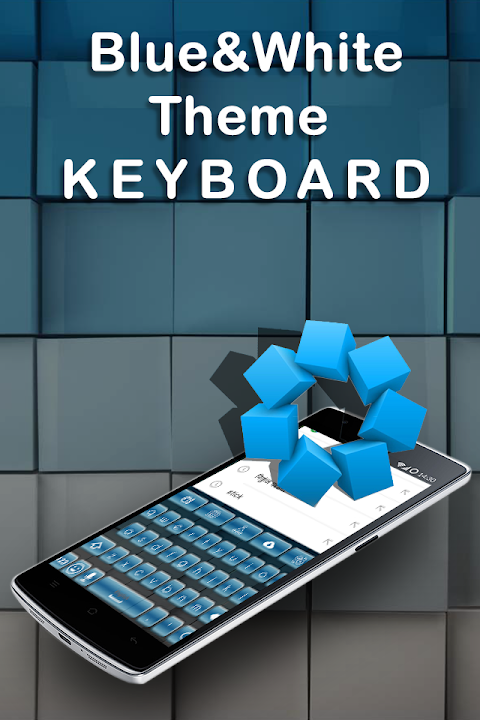 Android Blue White Keyboard Screen 2
