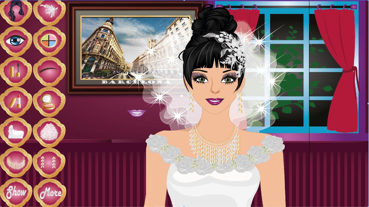 Android Barcelona Wedding Makeup Game Screen 1