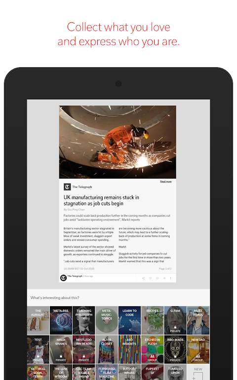 Android Flipboard: News For Any Topic Screen 18